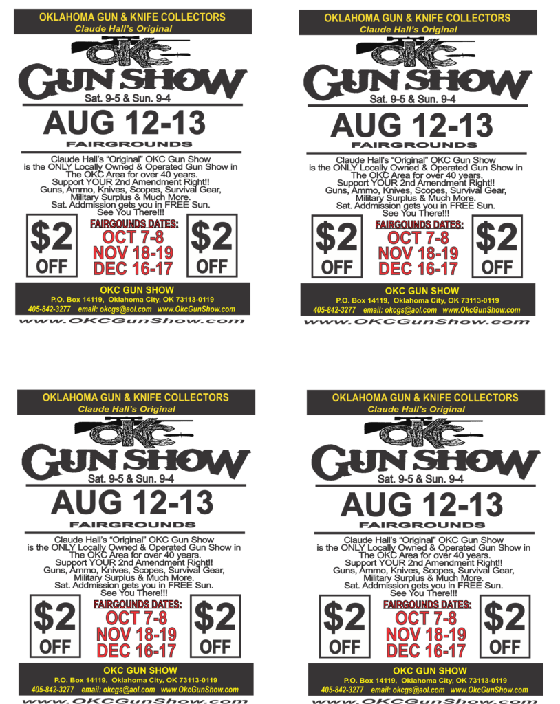 OKC Gun Show Admission Coupon